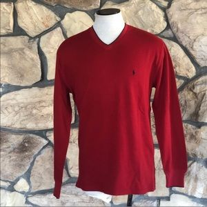 {Polo} Ralph Lauren Long Sleeve Red Thermal